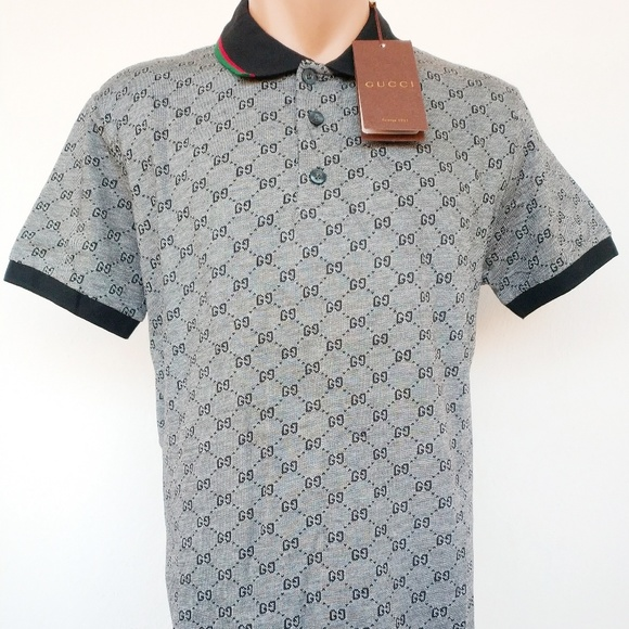 ec18ae979075 Gucci Shirts | Polo Shirt Gray Size M Cotton Men Women | Poshmark